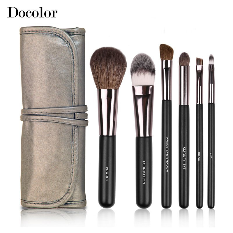 40% OFF Docolor Professional Toiletry Kit 6 Pcs Makeup Brush Set