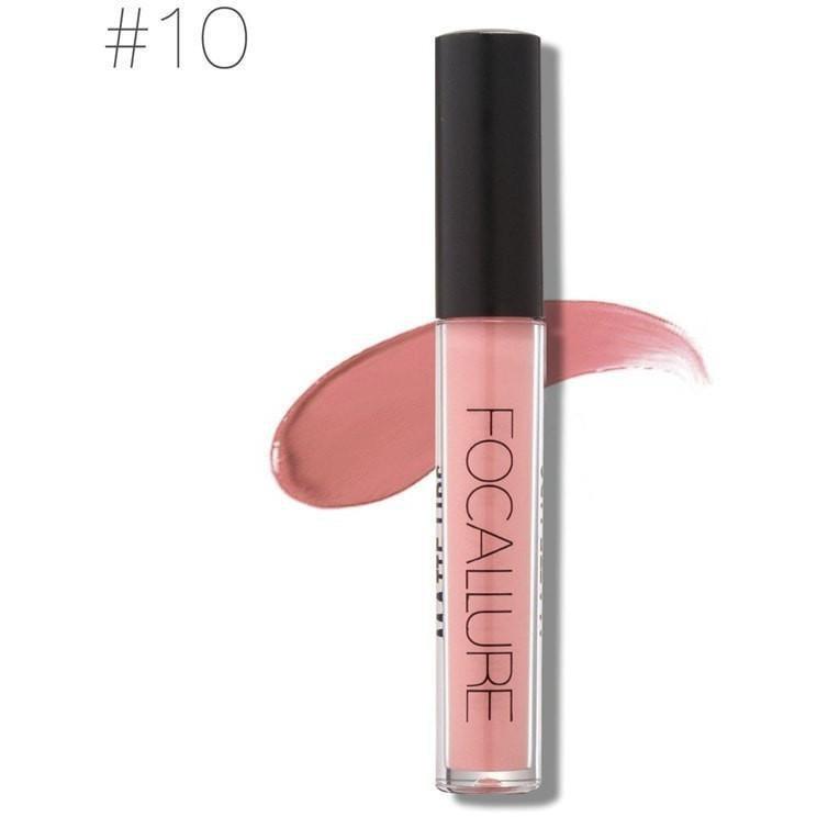 Hot Focallure #10 Ruddy Pink Authentic Waterproof Matte Liquid Lipstick US FREE SHIPPING