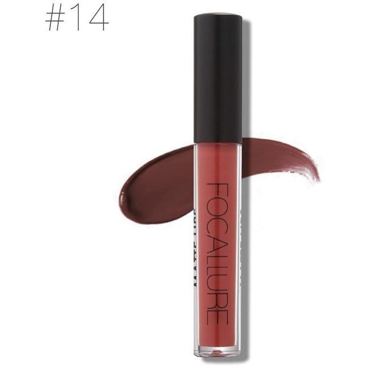Hot Focallure #14 Deep Chestnut Authentic Waterproof Matte Liquid Lipstick US FREE SHIPPING
