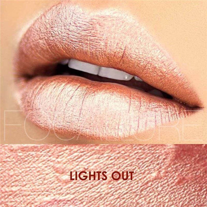 Hot Focallure #17 Lights Out Authentic Waterproof Lip Gloss Liquid Lipstick US FREE SHIPPING