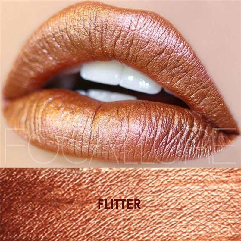 Hot Focallure #20 Flitter Authentic Waterproof Lip Gloss Liquid Lipstick US FREE SHIPPING