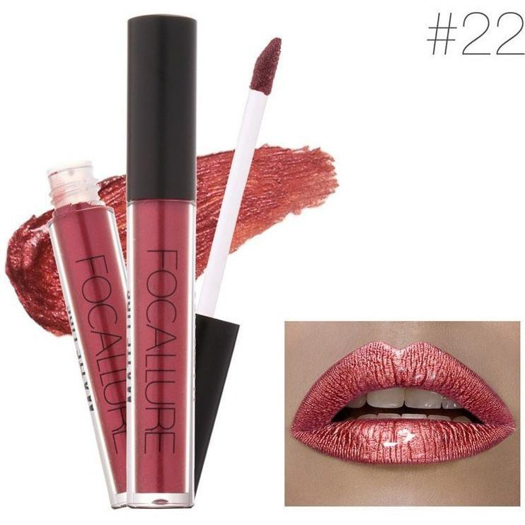 Hot Focallure #22 Mug Shot Authentic Waterproof Lip Gloss Liquid Lipstick US FREE SHIPPING