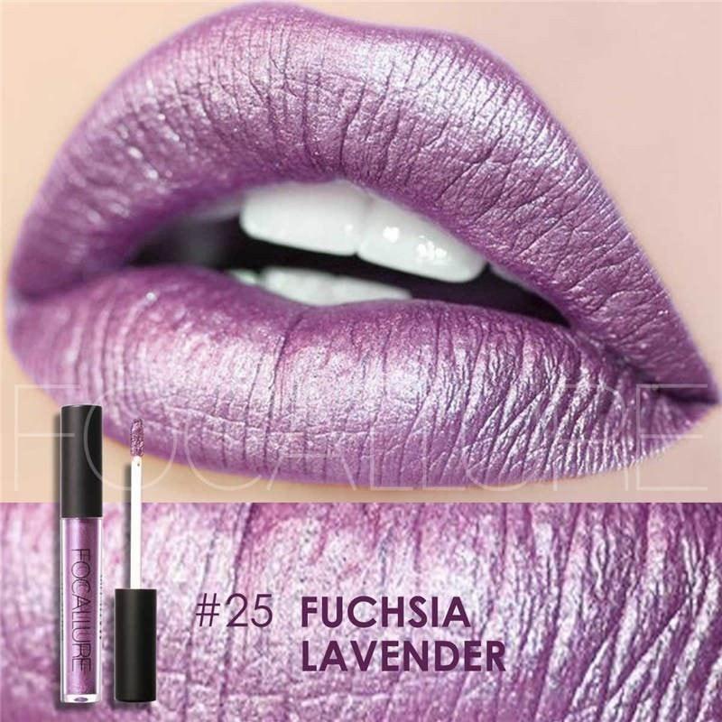 Hot Focallure #25 Fuchsia Lavender Authentic Waterproof Lip Gloss Liquid Lipstick US FREE SHIPPING