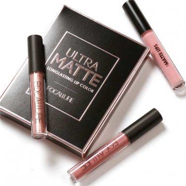 Hot Focallure Authentic Ultra Matte Longlasting Lip 3 Colors Gift Set Kit #2