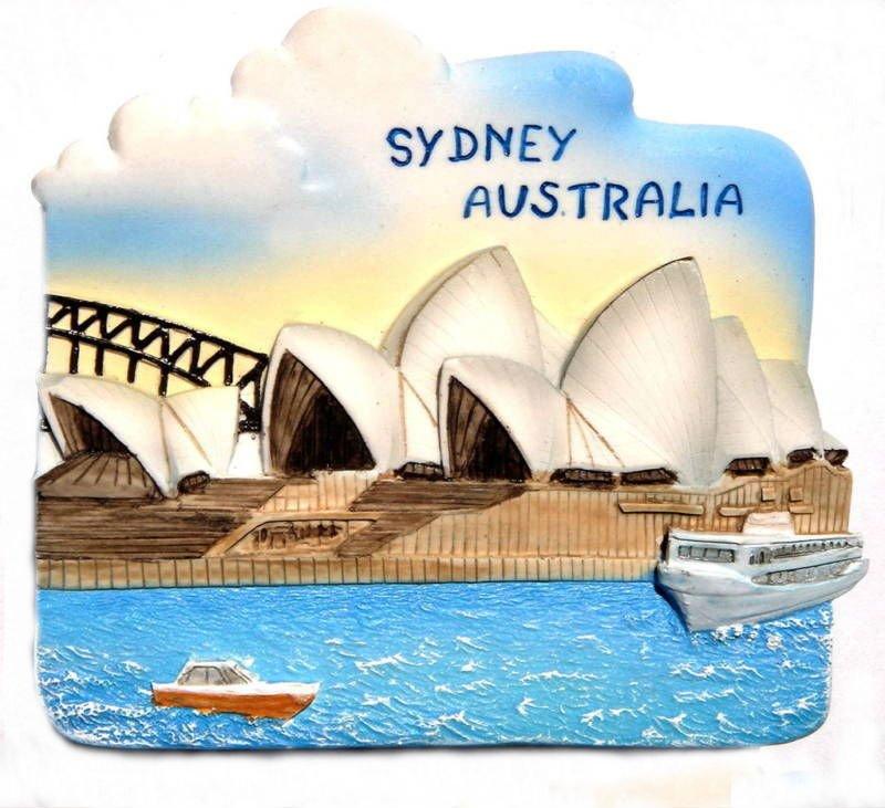 Opera House, SYDNEY AUSTRALIA, High Quality Resin 3D Fridge Magnet