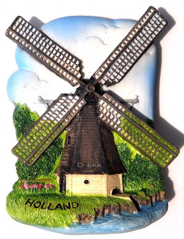 Wind Mill, HOLLAND, High Quality Resin 3D Fridge Magnet