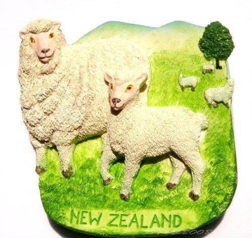 Souvenir Sheep, NEW ZEALAND , High Quality Resin 3D Fridge Magnet