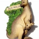 Souvenir Kangaroo, AUSTRALIA , High Quality Resin 3D Fridge Magnet