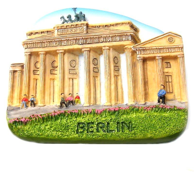 Brandenburger Tor, BERLIN Germany, High Quality Resin 3D Fridge Magnet