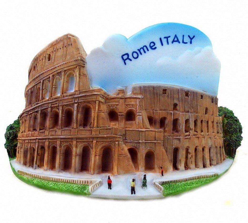 Souvenir Colosseum, ROME Italy, High Quality Resin 3D Fridge Magnet