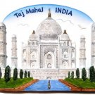 Souvenir Taj Mahal, INDIA, High Quality Resin 3D Fridge Magnet