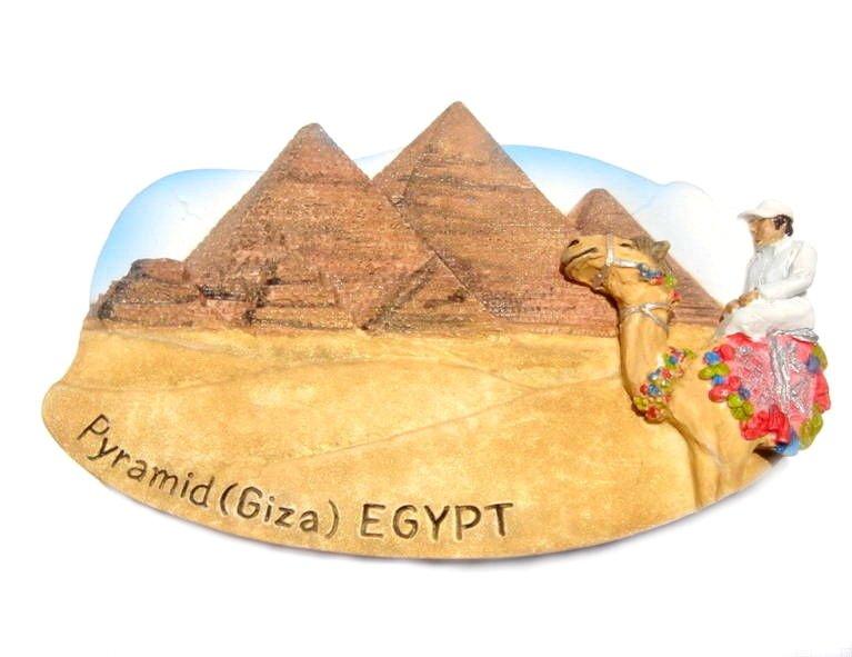 Souvenir Piramid (Giza), EGYPT, High Quality Resin 3D Fridge Magnet