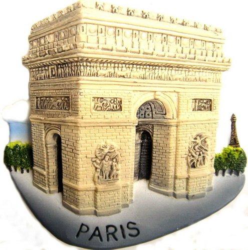 Souvenir Arc de Triomphe, PARIS France, High Quality Resin 3D Fridge Magnet