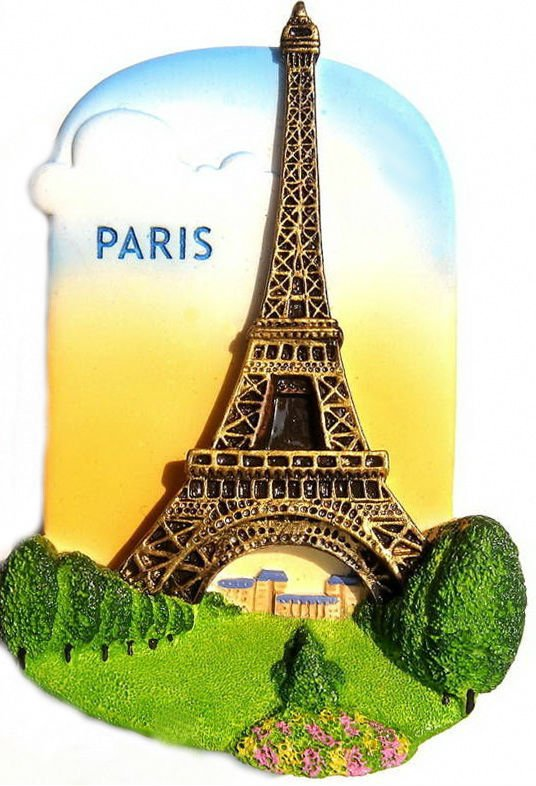 Souvenir Eiffel Tower, PARIS Italy, High Quality Resin 3D Fridge Magnet