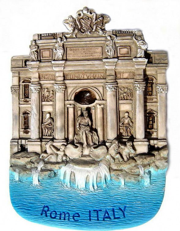 Souvenir Trevi Fountain, ROME Italy, High Quality Resin 3D Fridge Magnet