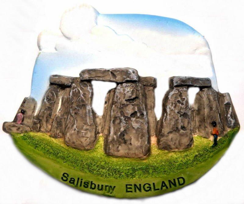 Souvenir Stonehenge, ENGLAND United Kingdom, High Quality Resin 3D Fridge Magnet