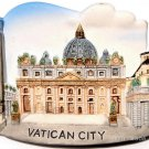 Souvenir St. Peter's Basilica, VATICAN CITY Italy, High Quality Resin 3D Fridge Magnet