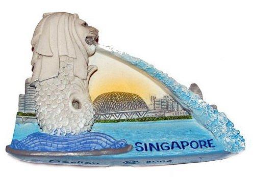 Souvenir Merlion, SINGAPORE, High Quality Resin 3D Fridge Magnet