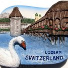 Souvenir Chapel Bridge Water Tower, LUZERN, High Quality Resin 3D Fridge Magnet