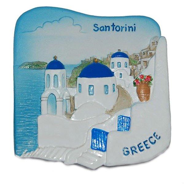 Souvenir Santorini, GREECE, High Quality Resin 3D Fridge Magnet