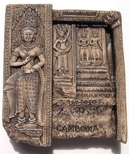 Souvenir Apsaras, CAMBODIA, High Quality Resin 3D Fridge Magnet