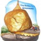 Souvenir The Golden Rock, MYANMAR , High Quality Resin 3D Fridge Magnet