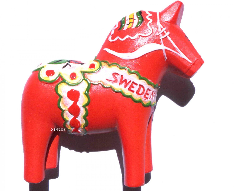 Resin Fridge magnet Souveni Blue Dala Horse Sweden 3D Gift