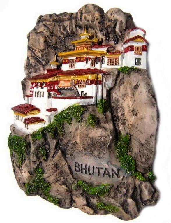 Souvenir Tiger's Nest Monastery, BHUTAN, High Quality Resin 3D Fridge Magnet
