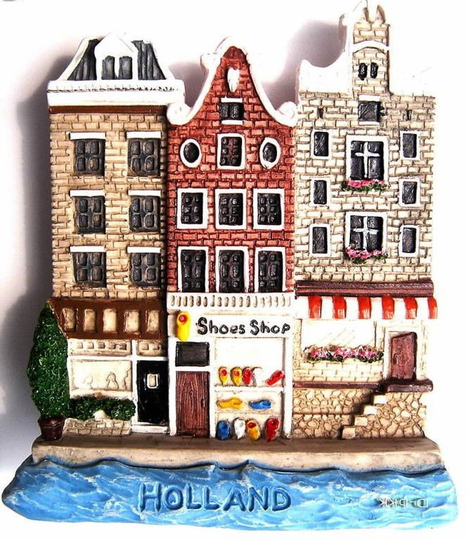 Souvenir Holland Houses, HOLLAND, High Quality Resin 3D Fridge Magnet