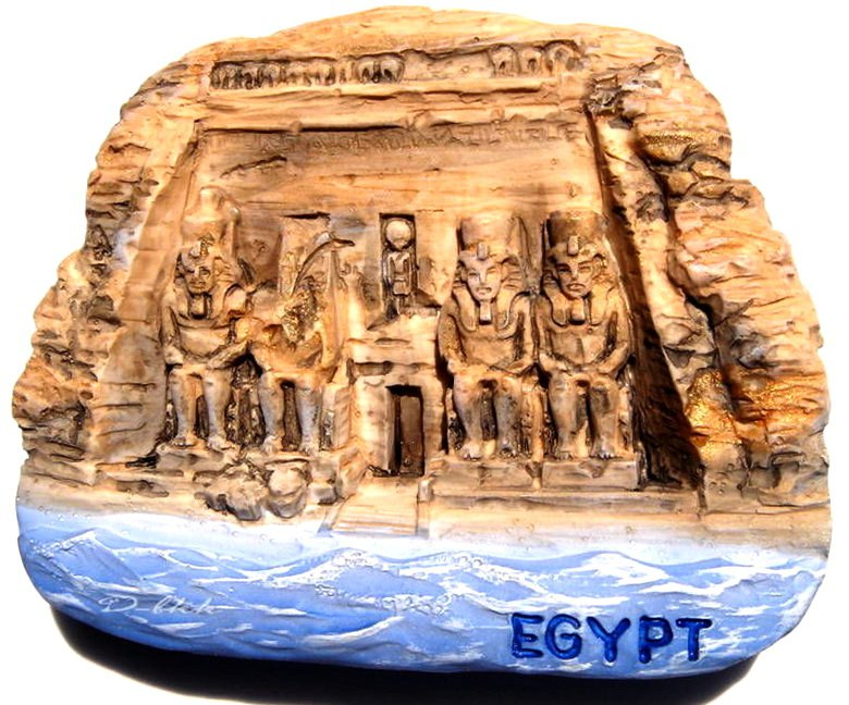 Souvenir The Great Temple of Abu Simbel, EGYPT, High Quality Resin 3D Fridge Magnet