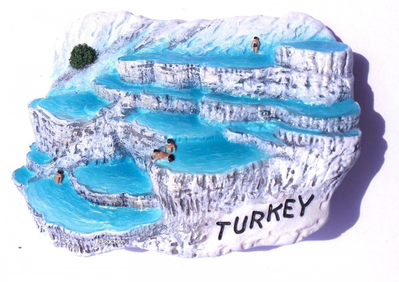 Souvenir Pamukkale, TURKEY, High Quality Resin 3D Fridge Magnet