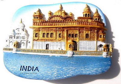 Souvenir The Golden Temple, INDIA , High Quality Resin 3D Fridge Magnet