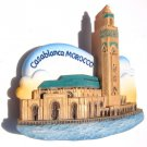 Souvenir Hassan II Mosque, Casablanca, MOROCCO, High Quality Resin 3D Fridge Magnet