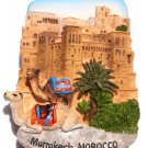 Souvenir Kasbah of Ait Ben Hadou, Marrakech, MOROCCO, High Quality Resin 3D Fridge Magnet