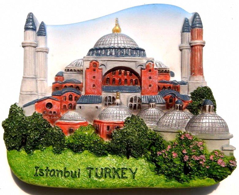 Souvenir Hagia Sophia, Istanbul, TURKEY, High Quality Resin 3D Fridge Magnet