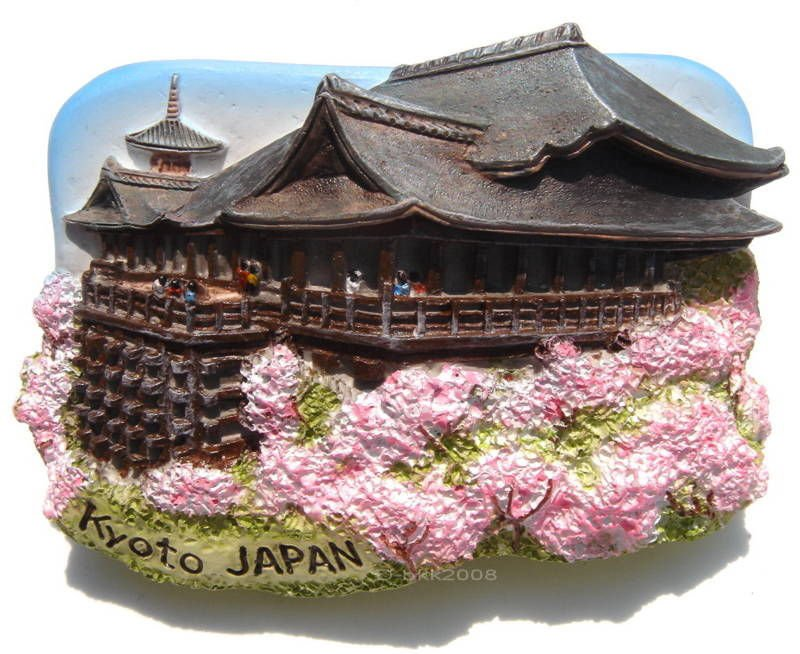 Souvenir Kiyomizu Temple (Water Temple), Kyoto, JAPAN , High Quality Resin 3D Fridge Magnet