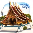 Souvenir Wat Xieng Thong, Luang Prabang, LAOS, High Quality Resin 3D Fridge Magnet
