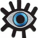Eye eyeball tattoo wicca occult goth punk retro applique iron-on patch