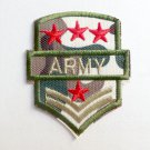 Craft Iron-On Military Rank Embroidered Patch Army Badge Sewing Applique