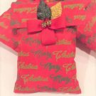 "Pleasant Scented Christmas Gift; Lavender Sachet with ""Merry Christmas"" print"