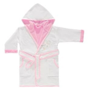 Cotton Hooded Embroidered Toddler Bathrobe-BALLOON