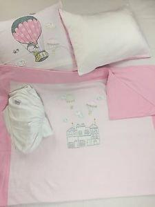 100%Cotton Jersey 4-Piece Baby Crib Bedding, Quilt Set-BALLOON