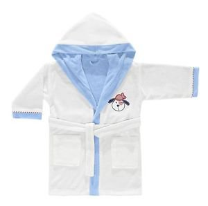 Cotton Hooded Embroidered Toddler Bathrobe-BRAVE PIRATES
