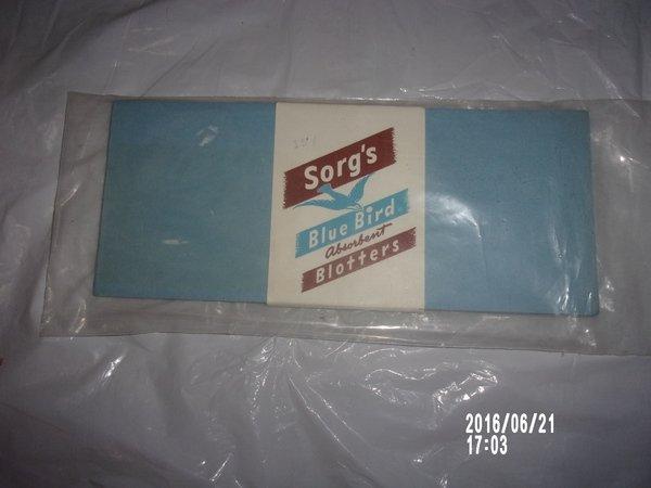 VINTAGE PACKAGE OF SORG'S BLUE BIRDS ABSORBENT BLOTTERS