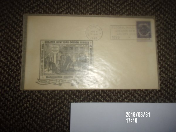 VINTAGE GREATER NEW YORK GOLDEN JUBILEE FIRST DAY COVER