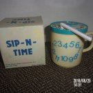VINTAGE SIP N TIME BLUE CLOCK SIPPY CUP MADE IN HONG KONG