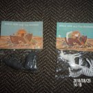VINTAGE SET OF TWO ARCO ARC AND TOY ANIMAL PACKAGES RHINOS ZEBRAS HONG KONG