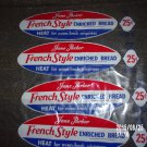 VINTAGE SET OF FOUR JANE PARKER FRENCH BREAD BAGS WRAPPERS 25 CENTS A&P