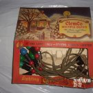 VINTAGE CLEMCO OUTFIT SEVEN BULB SET OF CHRISTMAS LIGHTS IN ORIGINAL BOX