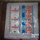 VINTAGE LOT OF THREE 1960s WONDERBREAD 37 CENTS BAGS WRAPPERS